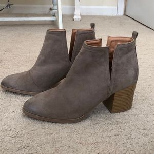 Adorable taupe booties